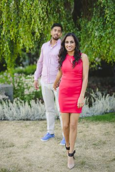 romantic red engagement session outfits