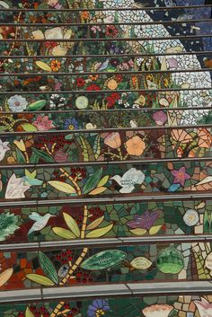 Mosaic stairs via Flickr.