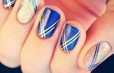 Diseños de uñas con esmalte fácil, diseños uñas con esmalte rayas. Clic Follow,  #uñas #decoratednails #uñasdiscretas