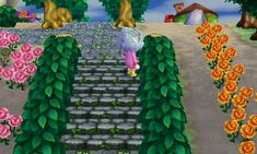 Cobblestone Stairs with Weeds - Animal Crossing New Leaf QR Code Acnl Paths, Ac New Leaf, Happy Home Designer, Animal Games, Animal Crossing Qr, Fun Facts, Coding, Leaves, Qr Codes