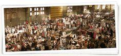 6. April 2014. Ijhallen-Flohmarkt. Auf der Fähre noch zufällig Ni und J getroffen. Superleuk!