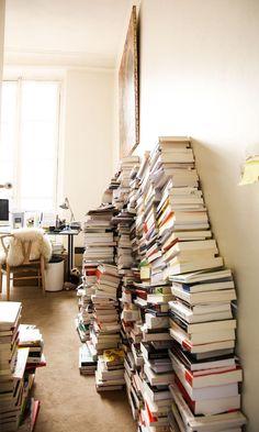 Bureau Livres Bibliothèque Appartement Paris Augustin Trapenard