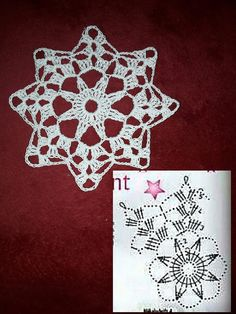 Best 12 Crochet snowflake with chart… – Page 804666658395032721 – SkillOfKing. Crochet Snowflake Pattern, Crochet Stars, Crochet Snowflakes, Crochet Doily Patterns, Crochet Flowers, Crochet Stitches, Snowflake Craft, Snowflake Designs, Crochet Christmas Ornaments