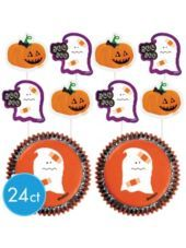 #halloween #partycity Ghost Cupcake Decorating Kit - Party City