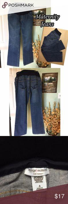 "Maternity Jeans Liz Lange maternity jeans, size 4 inseam 30""  gently used Liz Lange for Target Jeans"