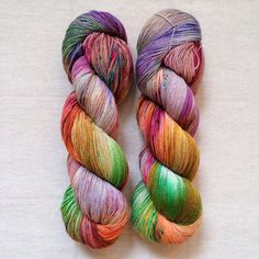 Hand Dyed Yarn Vitreous Fingering Weight Sock Yarn by DruzyRising