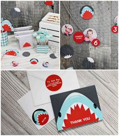 Shark themed birthday party via Kara's Party Ideas KarasPartyIdeas.com Printables, favors, recipes, supplies, and more! #sharkparty #karaspartyideas (2)