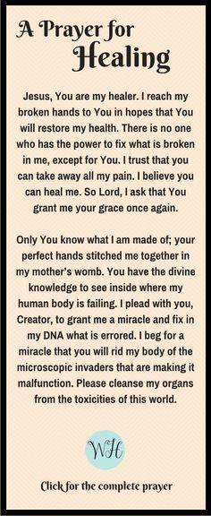 Prayer for Healing   In Wealth & Health