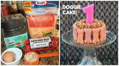 Dog's FIRST Birthday Cake!!!! Doggie Cake.                              … #DogBirthday