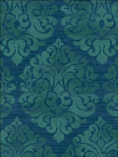 blue/green damask