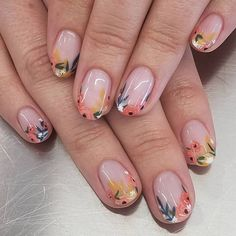 Wedding nails for the lovely inspired by Nina, of course🌺 . Wedding nails for the lovely inspired by Nina, of course🌺 .,Nails Wedding nails for the lovely inspired by. Minimalist Nails, Ten Nails, Easter Nail Art, Nagellack Trends, Floral Nail Art, Flower Nails, Nail Art Flowers, Nagel Gel, Nail Manicure