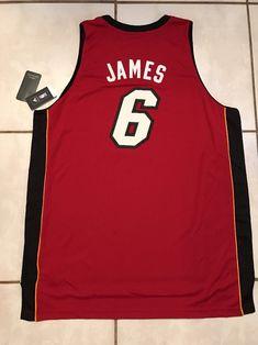 NWT ADIDAS Miami Heat Lebron James SWINGMAN NBA RED Jersey Men's 3XL    eBay
