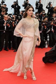 Sonam Kapur in Anamika Khanna at the Cannes Film Festival 2014