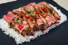 Ricetta - Beef Teriyaki - Tagliata di manzo con salsa taré e riso basmati - Le ricette al Barbecue di BBQ4All