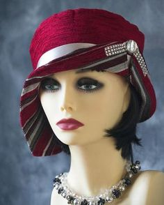 VINTAGE INSPIRED 1920s STYLE CLOCHE HAT DOWNTON ABBEY GATSBY