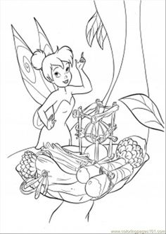 Tinkerbell Is Trying To Cook Coloring Page