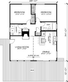 Small Cabin Plans, A Frame House Plans, Porch House Plans, House Plans With Photos, Cottage Floor Plans, Small House Floor Plans, Cabin Floor Plans, House Plans And More, Cottage Design