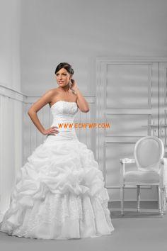Stile Principessa Senza Spalline Allacciato Abiti da Sposa D'epoca
