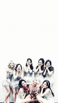Girls' Generation SNSD OT8 Lockscreen Phone Wallpaper