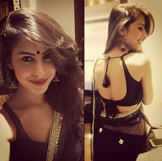 Black sari blouse