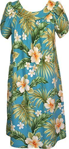 """Product review for RJC Womens Full Bloom Tropical Muumuu Dress.  - SIZING INFO 