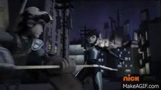 TMNT 2012 - Casey Jones meets Karai