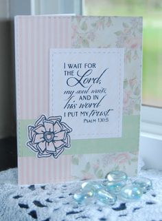 Handmade card by Christine Miller using the New Mercies and Beautiful Things stamp sets from Verve. #vervestamps