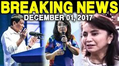 BREAKING NEWS TODAY DECEMBER 01 2017 PRES. DUTERTE l LENI ROBREDO l CJ S...