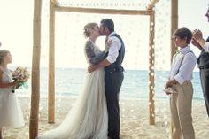 Turks and Caicos wedding. Barefoot beach wedding!