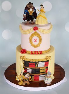 Beauty and the Beast themed cake. #bellecake