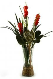 Tropical Bouquet in Glass Vase