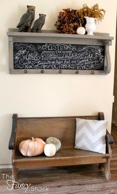 The Fancy Shack: The Old Church Pew & Fall Chalkboard