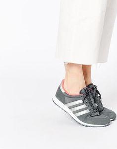 adidas Originals Adistar Grey & Silver Trainers at asos.com #sneakers #adidas #offduty #covetme