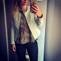 #dots #panther #mint #zara #mohito #gowork #blondie #style #fashion…