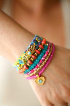 OOAK Gold Heart Bracelet by Bosphorushandmade