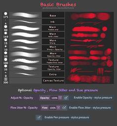Basic Painting Brushes - Photoshop by Feohria.deviantart.com on @deviantART