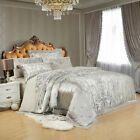 Sliver Golden Luxury Satin Jacquard Bedding Sets Embroidery Bed Set Do – T A Y Online Store Satin Bedding, Cotton Bedding Sets, Queen Bedding Sets, Luxury Bedding, Chic Bedding, Dorm Bedding, Comforter Sets, Bed Cover Sets, Queen Size Bed Covers