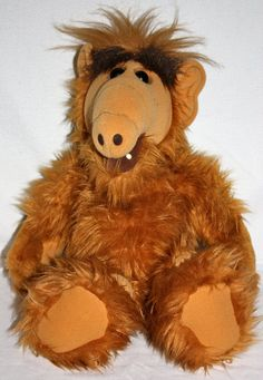 My Dad loved him some Alf!!! Vintage 1986 Alf Gordon Shumway Plush Toy Doll Productions Coleco Industires INC 18 Almost New. $159.00, via Etsy.
