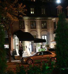 Gorgeous Exterior of La Queue de Cheval Steakhouse Located at 1181 rue de la Montagne, Montreal, Quebec, Canada