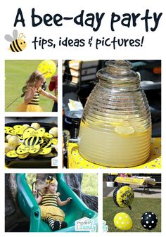 Bee-day party – birthday party theme that you will love!  yourmodernfamily.com