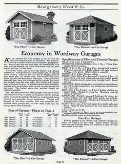 1925 Wardway Kit Homes Garages