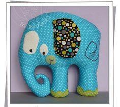 Como hacer una almohada con forma de elefante