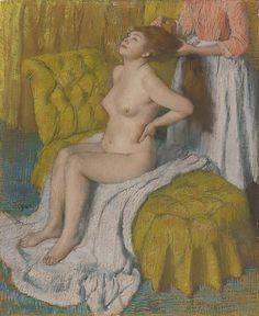 By Edgar Degas (1834-1917), ca. 1886-88, Woman Having Her Hair Combed, pastel, Edgar Degas, Renoir, Degas Paintings, Degas Drawings, Manet, Oil Painting Reproductions, Cultural, Rembrandt, Metropolitan Museum