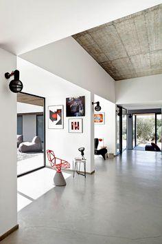 Concrete floors - love this house!