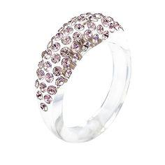 Cristaluna Ring Mona transparent mit Vintage Rose SWAROVSKI®ELEMENTS  Acrylglas-Scmuckkreationen mit Unikatcharakter  #cristaluna #mona transparent #acrylic #ring