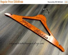 SALE 20% OFF Personalized Wedding Hanger by OriginalBridalHanger