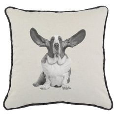 I pinned this Basset Hound Pillow from the Willow & Mead event at Joss and Main!