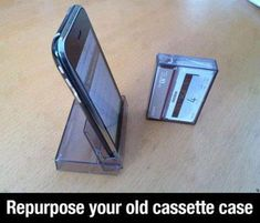 So simple, so easy - but do we still have any cassette cases? #DIY #reduce #reuse #recycle #gogreenweek