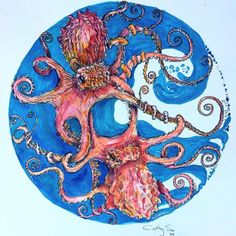 A personal favorite from my Etsy shop https://www.etsy.com/listing/530166907/make-an-offer-octopus-love-16x16inch-on