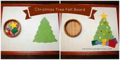 Christmas Tree Felt Board: Vibrant Wanderings- holiday Montessori